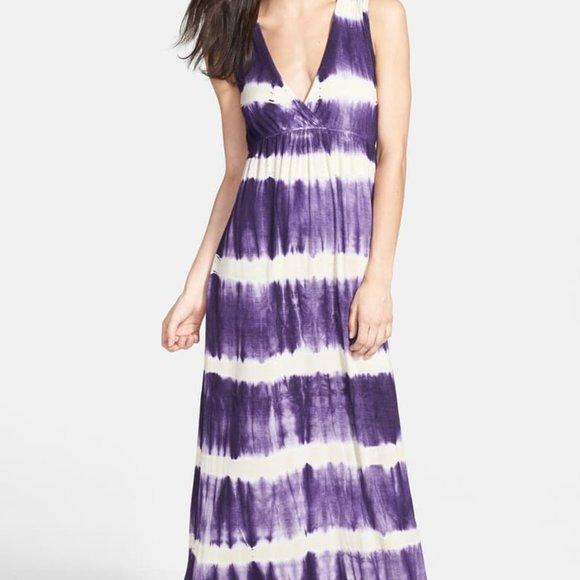Gypsy 05 Dresses & Skirts - Gypsy 05 Tie Dye Open Back Maxi Dress Purple